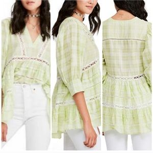 NWT Free People Time Out Lace Tunic Top blouse